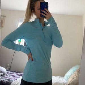 Light blue Nike half zip